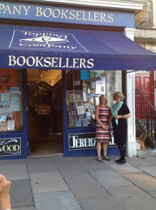Sandy with Helen Hart at Topping Booksellers, Bath.