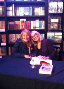 Girl Cop author Sandy Osborne with literary heroine Helen Fielding (Bridget Jones).
